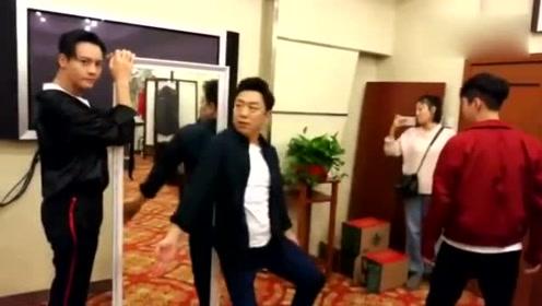 黄渤陈伟霆张艺兴排练花絮曝光 魔性舞步引爆笑