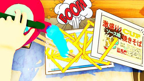 屌德斯解说 泡面模拟器 你见过会爆炸的泡面吗?最后泡成一碗辣条!
