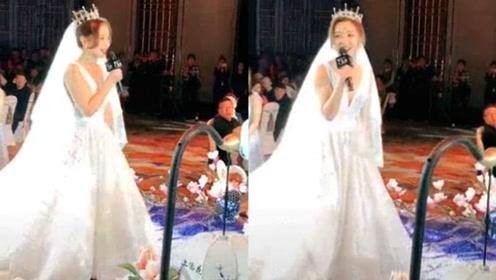 美女新娘一首《最美的期待》惊艳来宾现在没点才艺都不敢结婚了