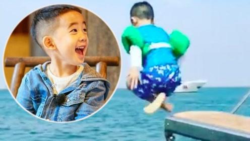 应采儿35岁生日游艇庆祝 却让5岁Jasper跳海助兴