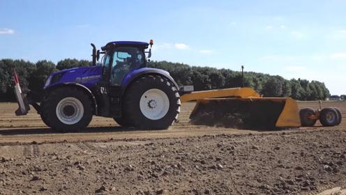 老外农田平整采用激光平地机,精耕细作产量高,你们那有吗?
