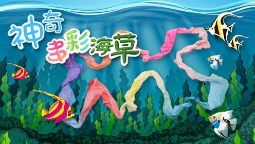 创意手工diy:制作超漂亮海底世界,卫生纸做的多彩海草