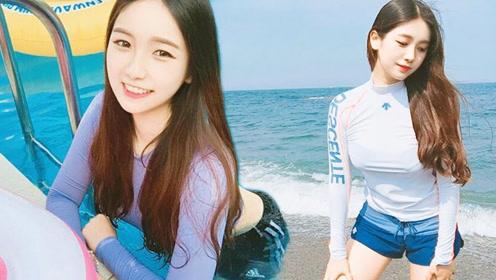 颜韩国政治系正妹走红 拥有白皙皮肤火辣身材