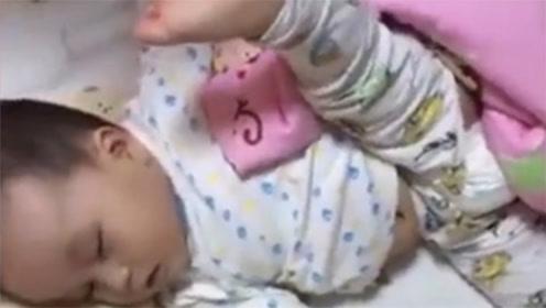 宝宝高难度睡姿合辑,一看就是练体操的料!