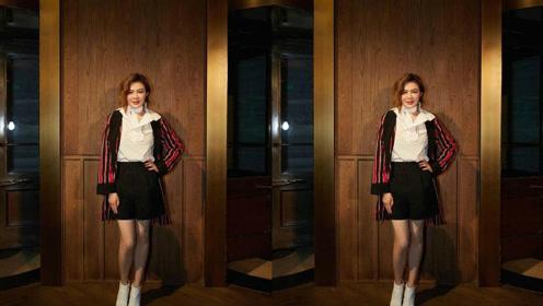 关之琳亮相上海时装周 双腿青筋满布暴露年龄