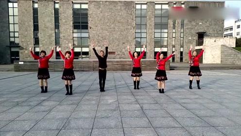 男女老少都很适合的一支广场舞,非常好看