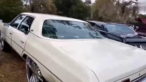 超级个性的大轮毂车胎,歪果仁就是会玩车!