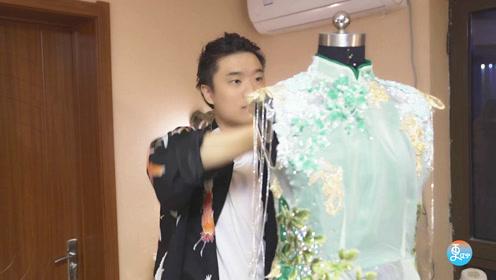 90后潮男大学毕业做旗袍,复古时尚不输大牌,备受外国美女追捧