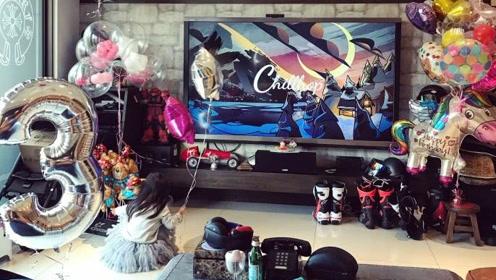 欧弟老婆晒照为Jojo庆3岁生日,照片曝光家中布置全是机车装备