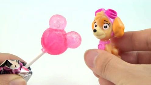 《橙子乐园在日本》汪汪队天天吃到粉红色的棒棒糖发现是米妮的