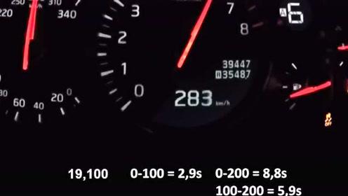 东瀛战神日产GT-R35,0-320kph,加速测试!