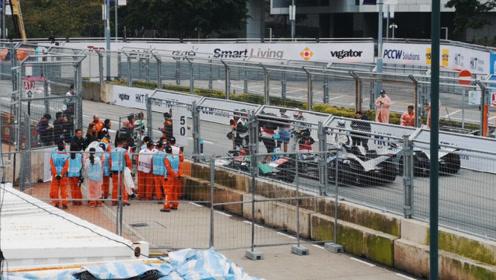 全球最顶级电动车大赛Formula-E香港站现场 奥迪再夺奖杯