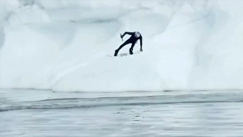 红牛把极限运动员送去了北极圈,浮力这种东西对他来说不存在的