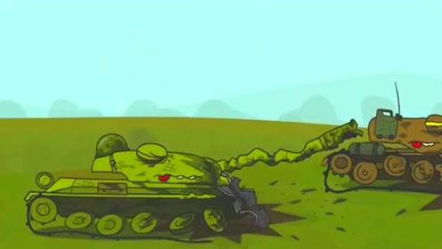 坦克世界搞笑动画:吃一块奶酪变成超级坦克?瞬间碾压对手