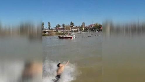 超载轮渡在伊拉克底格里斯河沉没,近100人遇难