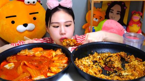 美食之甜辣泡菜 吃播小姐姐:搭配五花肉香喷喷的!