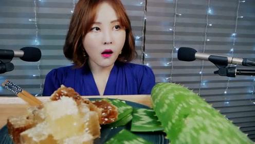 你生吃过芦荟吗?韩国美女直播生吃芦荟并且大谈感受!