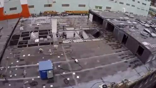 科技探秘:实拍巨型游轮制造过程_这样的大场面第一次见