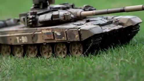 科技探索:刚做好的坦克模型,看起来很逼真!
