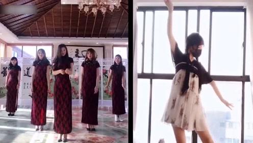 四位旗袍美女跳古风舞《琵琶行》满屏的大长腿,被惊艳到了!