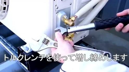 实拍日本工人安装空调,德国人看完都服了,这才叫专业严谨