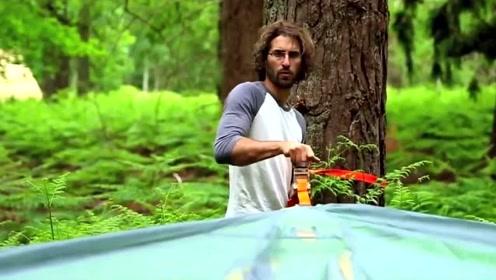 挂在树上的帐篷,太有趣了!