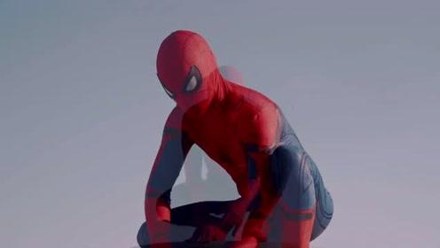 没有超能力的蜘蛛侠,这一摔可不轻,太搞笑了