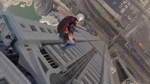 在高达4000千米的高楼向下跳,这急速下降的速度太刺激了