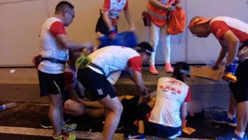 广州欢乐跑多名选手中暑倒地:天太热补水点没水喝