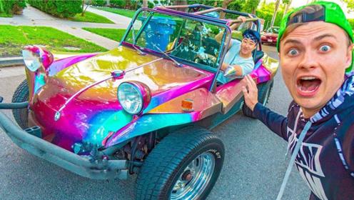 这才是真正汽车文化?老外仓库发现50年古董车,上路交警不敢查