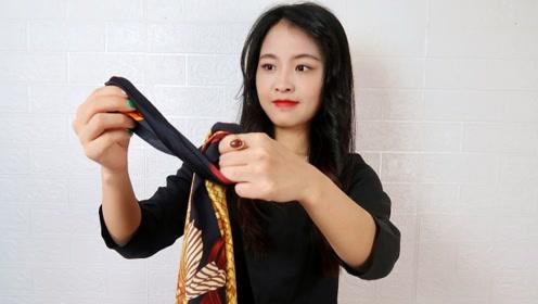 不要再嫌丝巾贵,看看这些用途,一条丝巾顶3套衣服!