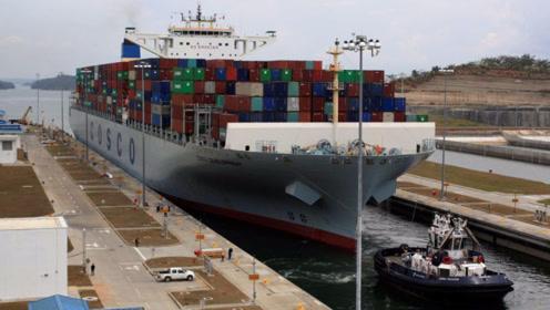 """中国""""海上堡垒""""亮相美国海港,掀起惊天大浪,美民众:太可怕了"""