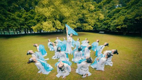 舞蹈与绸扇结合!中国舞《浣纱歌》好一幅美丽的画!