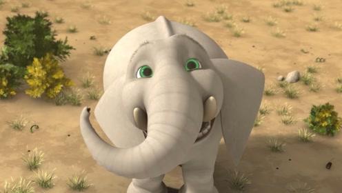 大象为了获得果实,经过自己不断努力,最终如愿以偿!