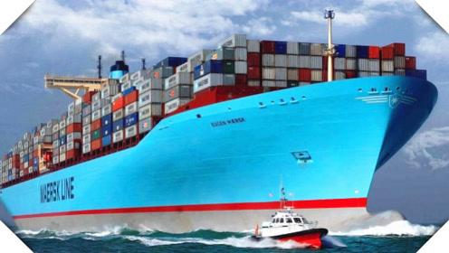 中国巨无霸行驶到美国港口,霸气外露,美国人:china万岁!