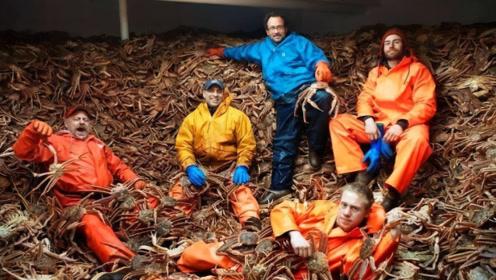 阿拉斯加捕蟹人,每年只需工作5天,就能得到十万美元的收入!