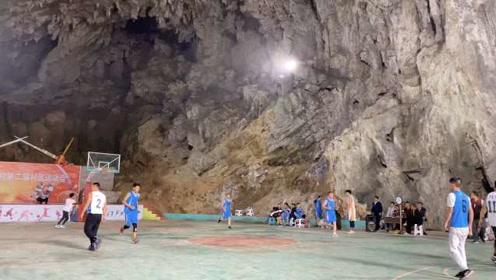 溶洞里建1000㎡球场,供电局为其解照明难题