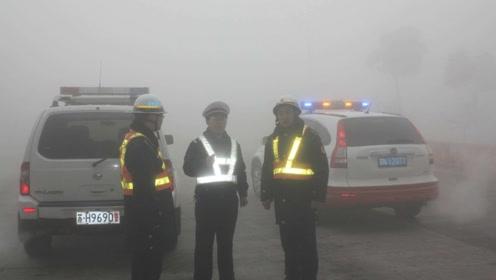 原来老司机大雾天是这样开车,新手司机应该多学一下,学会不亏