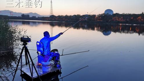 什么叫做牛逼?瞧瞧北京小伙水库夜钓,鲫鱼连竿排场也大!