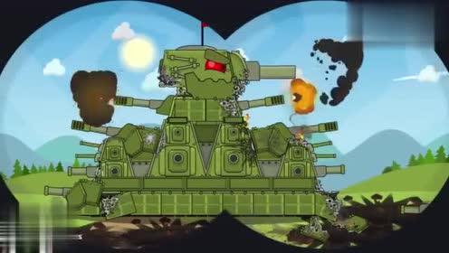坦克世界:kv44遇到强劲对手了,打得太精彩了图片