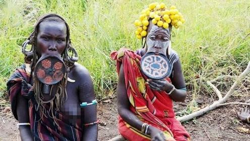 非洲原始部落如此奇葩,在他们心中最美的女人,真是不堪入眼