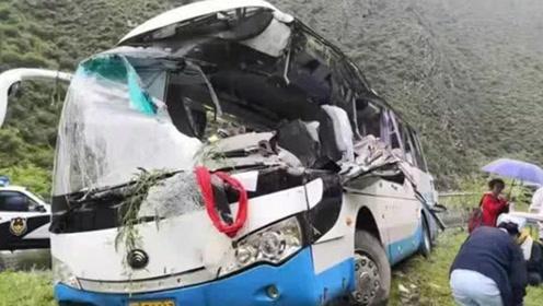 哀悼!四川阿坝州一旅游大巴被落石砸中,已致8死16伤
