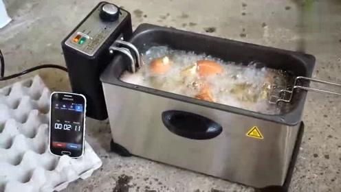 实验:30个带壳鸡蛋放在300°C的煎锅中,会发生怎样的变化