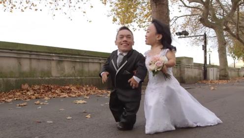 世上最矮的情侣,两人加起来还不如一个普通人,婚后生活让人羡慕
