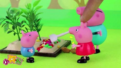 佩奇和乔治误吃水果核 担心种子会在肚子里发芽长大,玩具故事