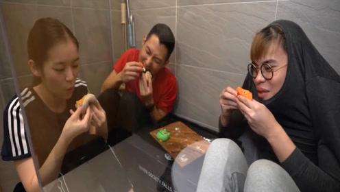 朋友来家做客结果请他在厕所吃了个饭?真香