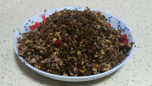 家常瘦肉炒芽菜,做法简单,学会了以后吃面就简单了
