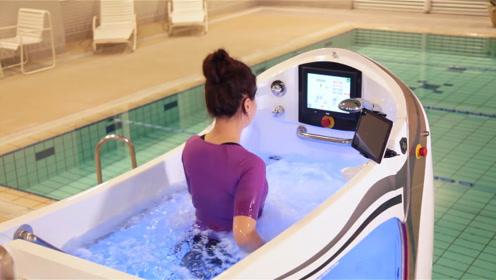 """日本人发明了""""水下跑步机"""",再也不怕跑步会流汗了!"""