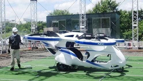 未来科技!日本NEC公开测试飞行汽车,能悬停一分钟