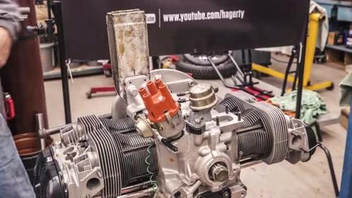 大众甲壳虫发动机修复翻新全过程Beetle延时摄影